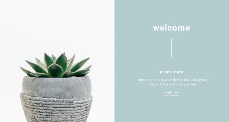 Beautiful pots Website Mockup