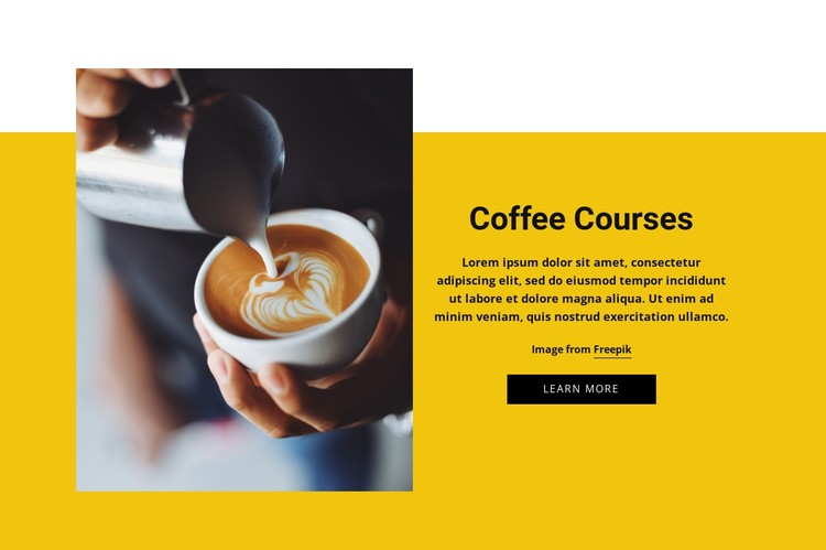 Coffee Barista Courses CSS Template