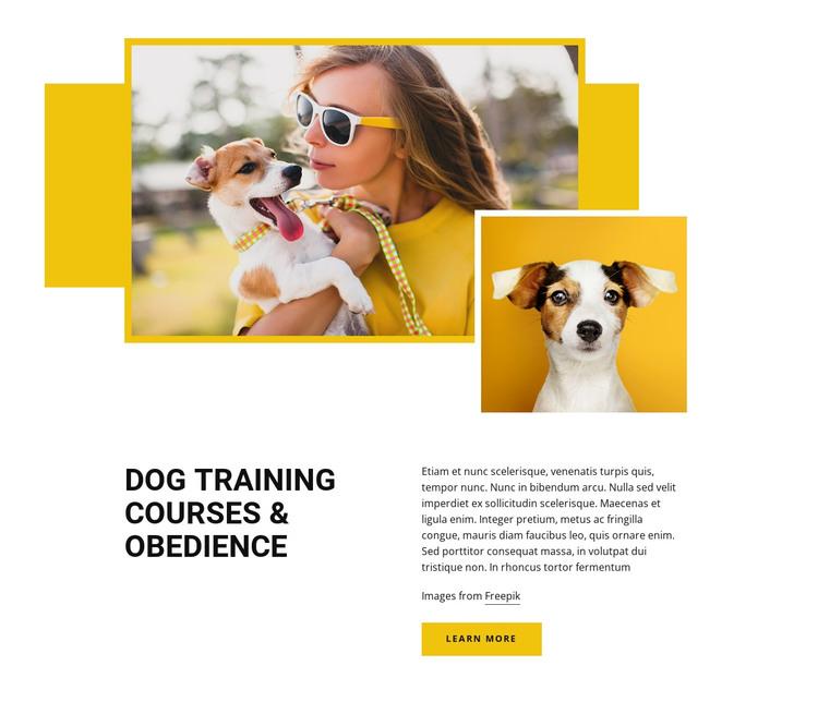 Pet training courses HTML Template