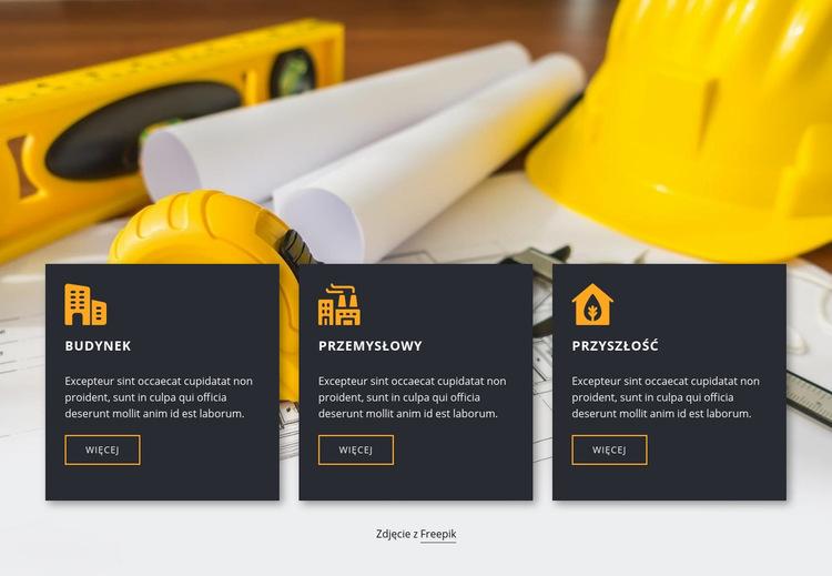 Usługi i plany budowlane Szablon witryny sieci Web