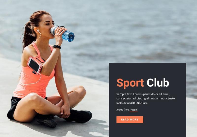 Running sports club Web Page Design
