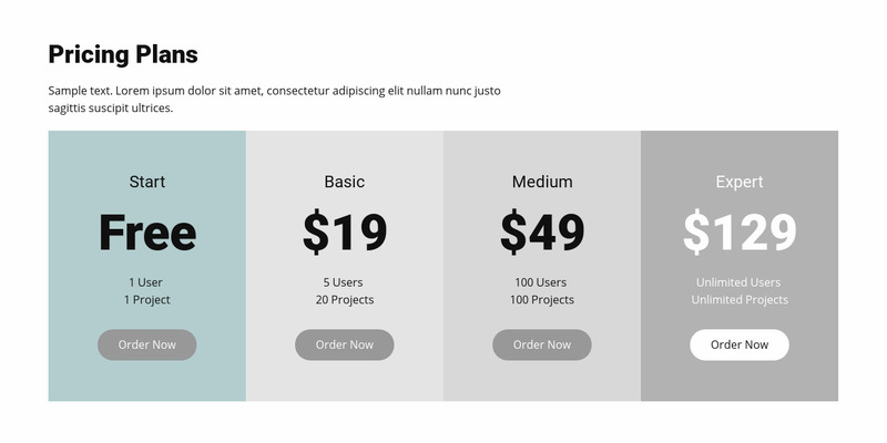 Pricing plan for business Web Page Design