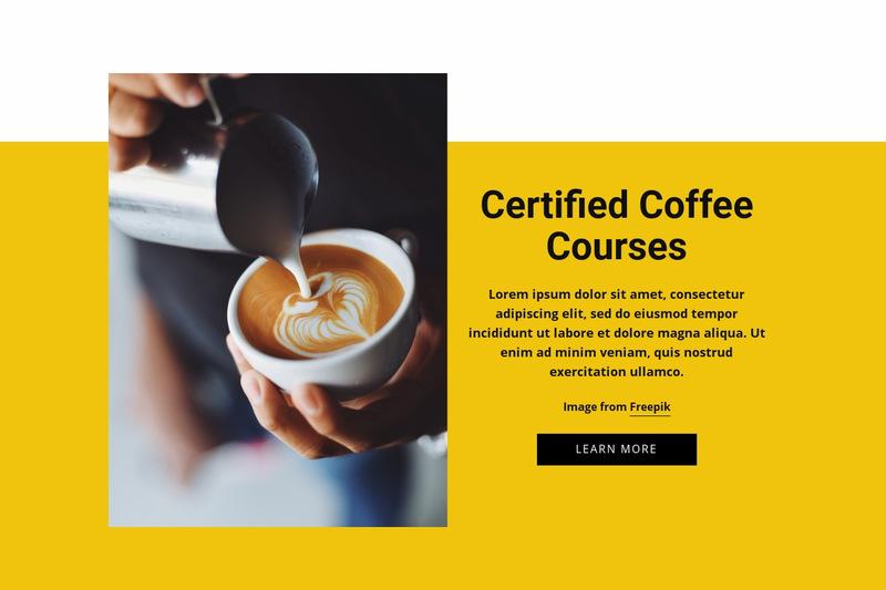 Coffee Barista Courses Web Page Designer