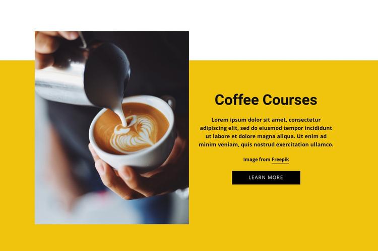 Coffee Barista Courses Website Builder Software