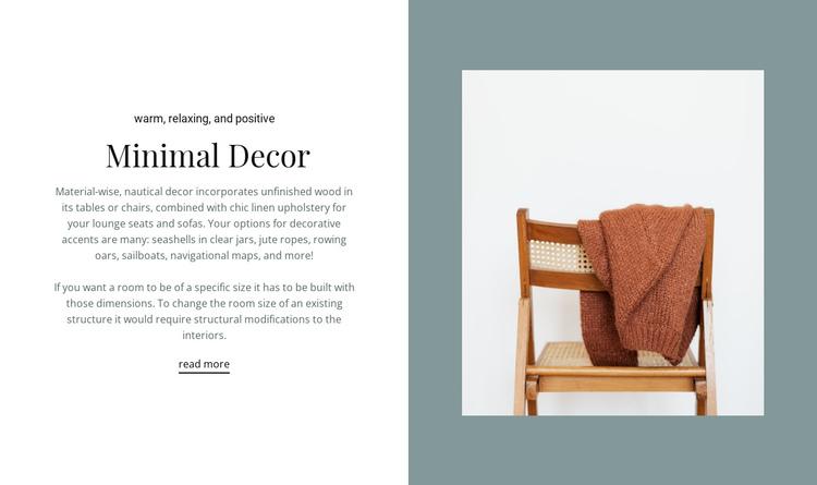 Minimal decor interior Website Builder Software