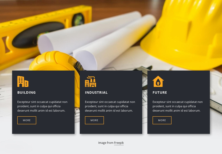 Building services and plans Website Mockup