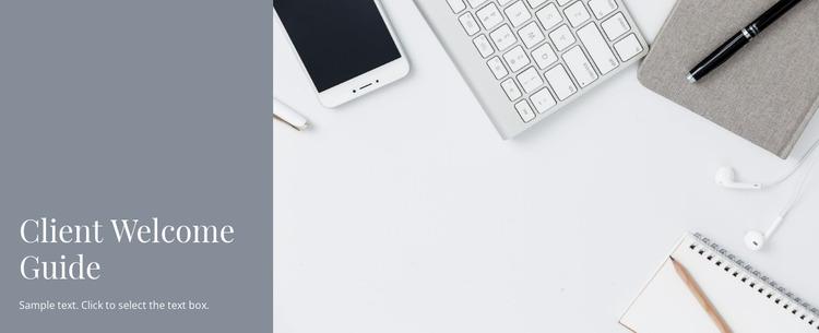 Client business guide Website Mockup