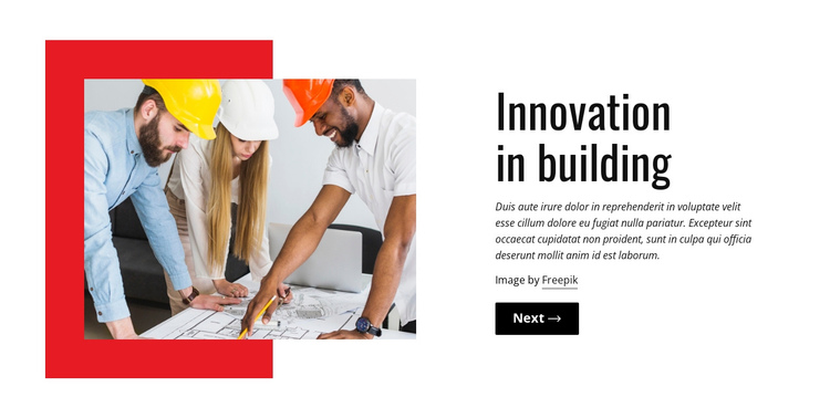 Innovation in building One Page Template