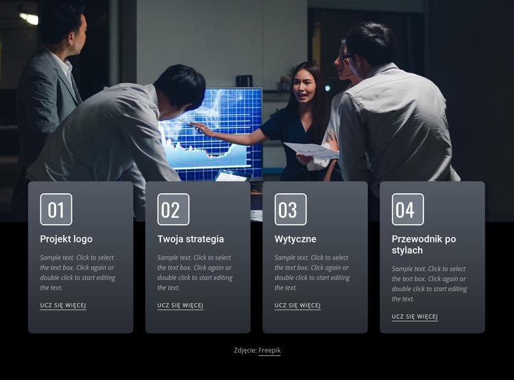 Efektywne spotkania biznesowe Szablon witryny sieci Web
