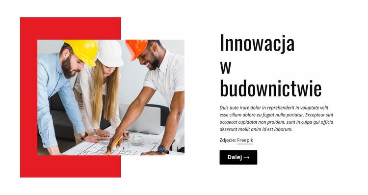 Innowacja w budownictwie Szablon Joomla