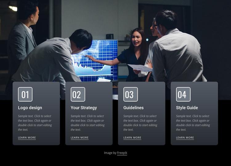 Effective business meetings Website Template