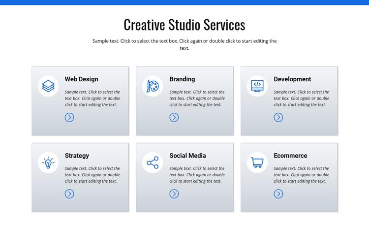 Creative studio services Homepage Design