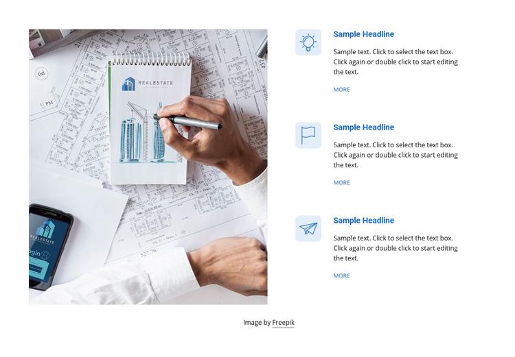 Real estate services Homepage Design