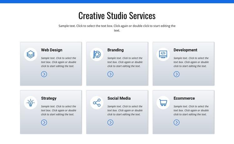 Creative studio services Html Code Example