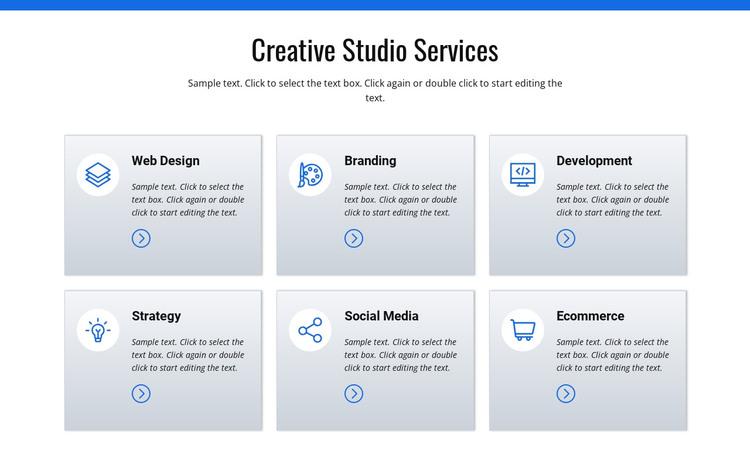 Creative studio services HTML Template