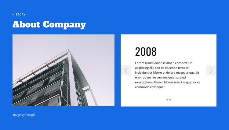 About construction company HTML5 Template