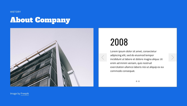 About construction company One Page Template