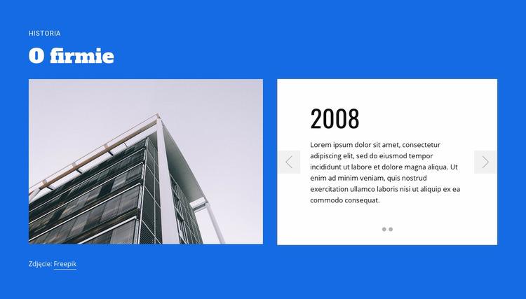 O firmie budowlanej Szablon Joomla