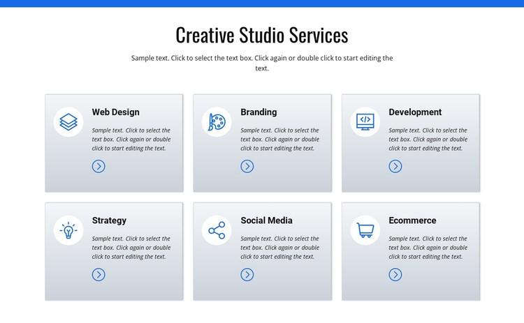 Creative studio services Static Site Generator