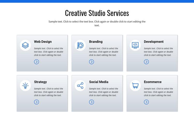 Creative studio services Web Design