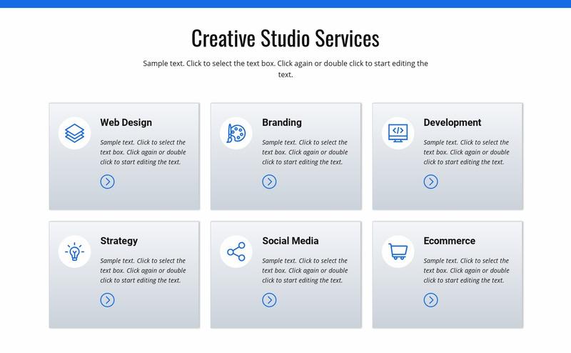 Creative studio services Web Page Design