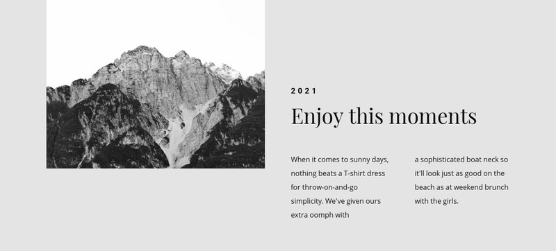 Enjoy this travel moments Web Page Design