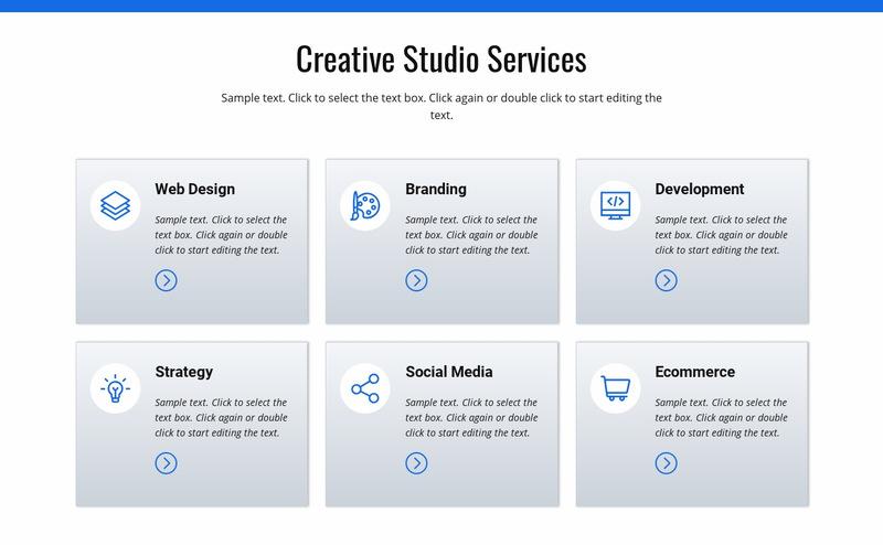Creative studio services Web Page Designer