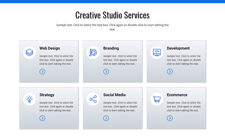 Creative studio services Website Builder Software