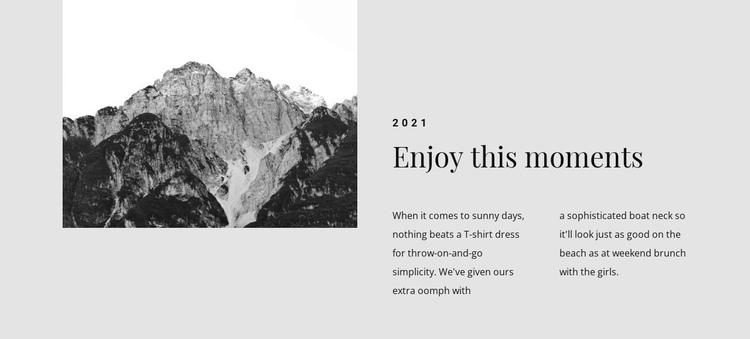 Enjoy this travel moments Website Builder Software