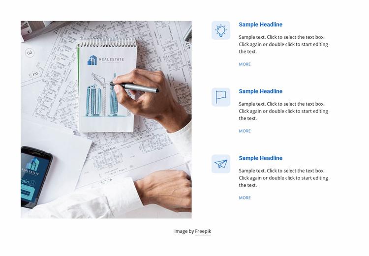 Real estate services Website Design