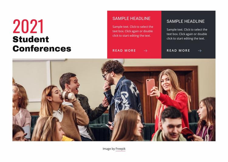 World learning conference Website Mockup