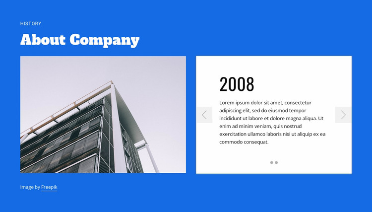 About construction company Website Mockup