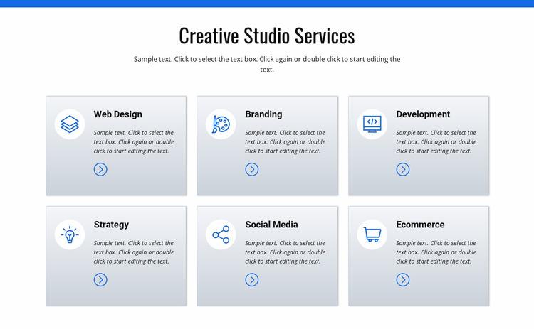 Creative studio services Website Mockup