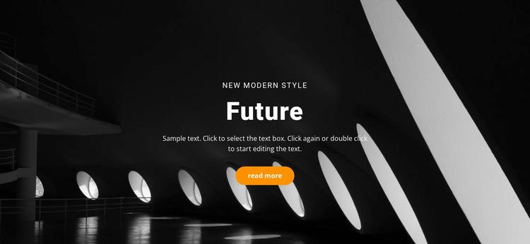 Future building concepts Website Mockup