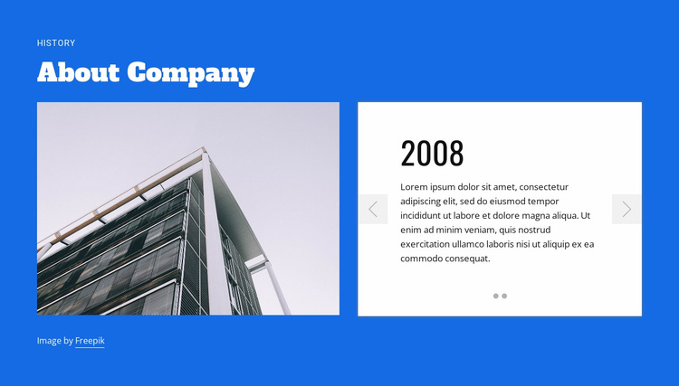 About construction company Website Template