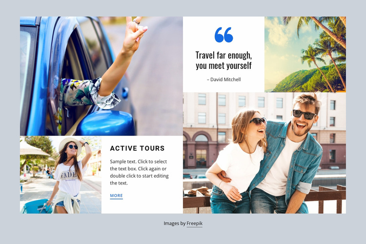 World tourism and travel Website Template