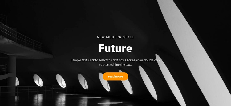 Future building concepts Landing Page