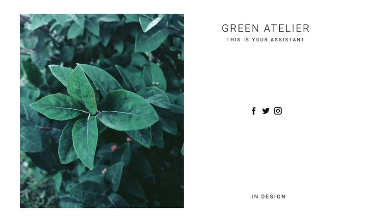 Green nature plant HTML Template