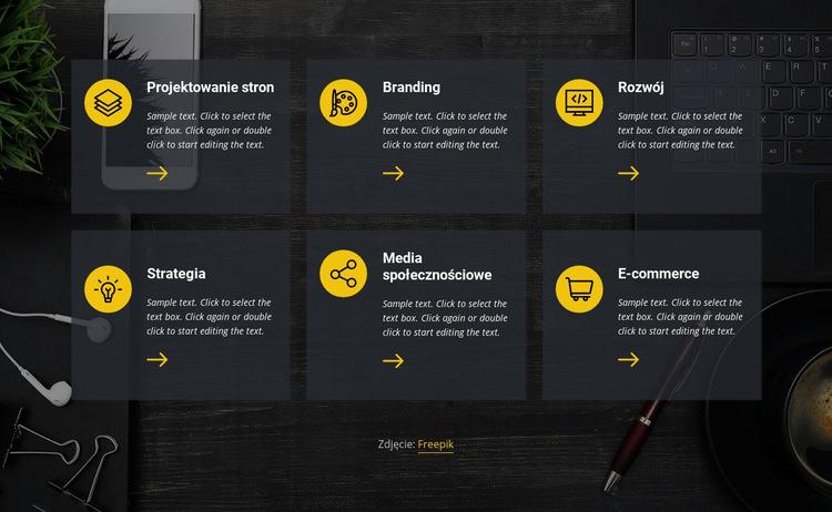 Usługi biznesowe i prawne Szablon witryny sieci Web