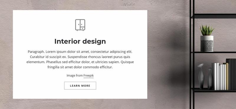 Living room interior Web Page Design