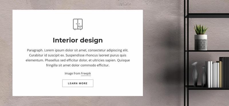 Living room interior Web Page Designer