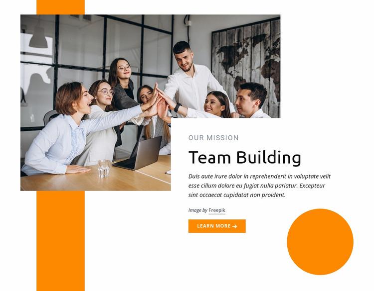 Team building training Website Mockup