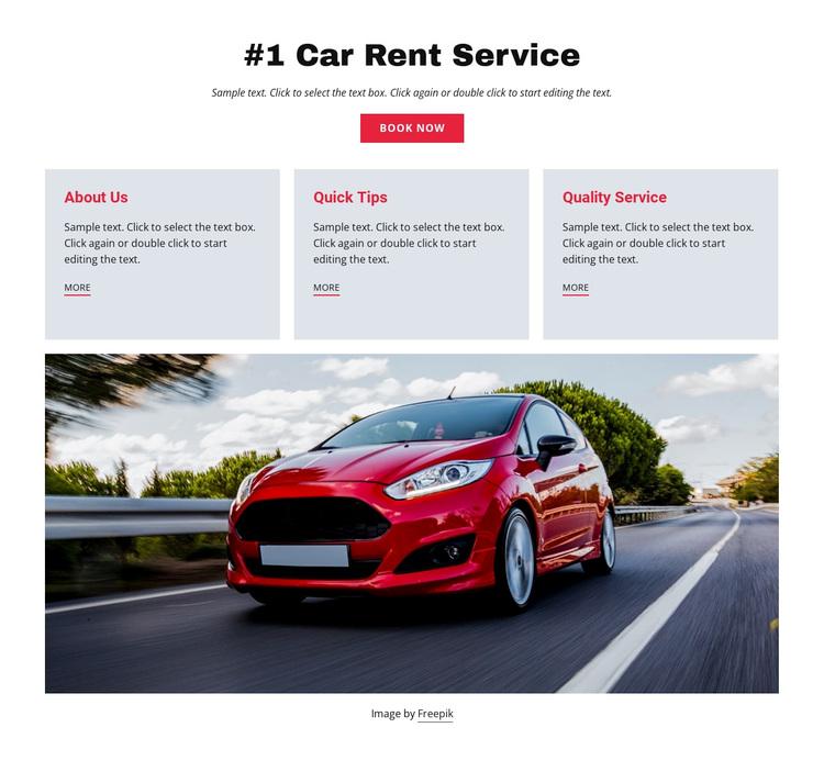 Luxury car rental service Template