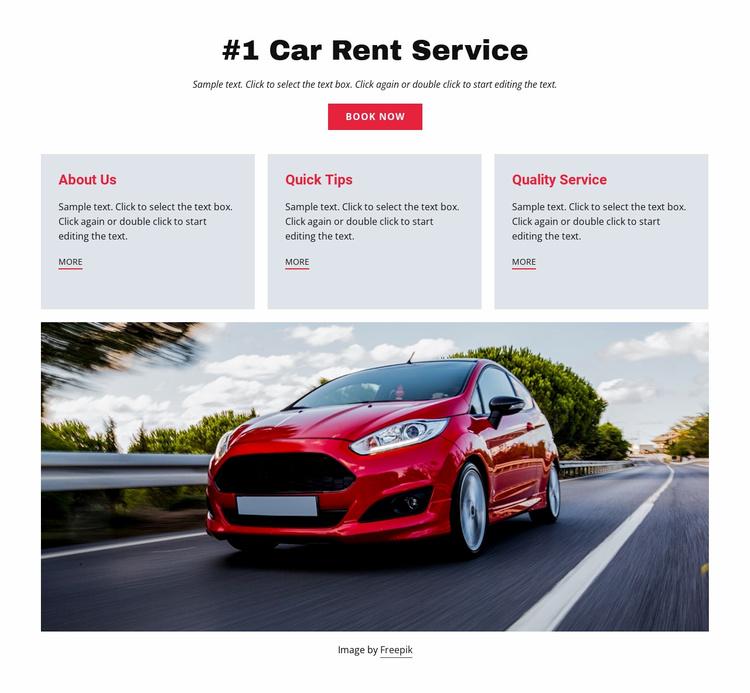 Luxury car rental service Landing Page