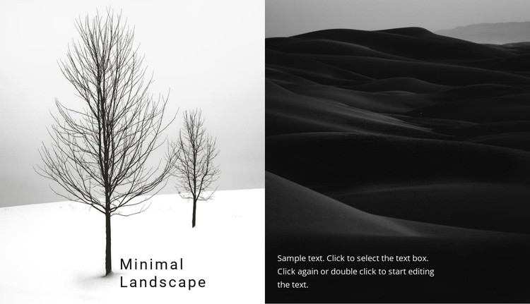 Landscape and nature CSS Template