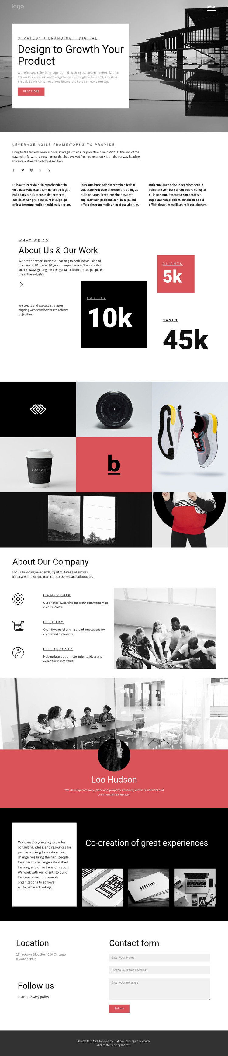 Business growth agency Homepage Design