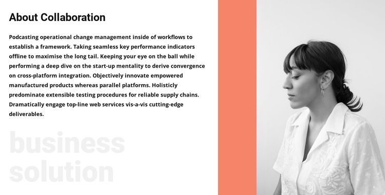 About business woman HTML5 Template