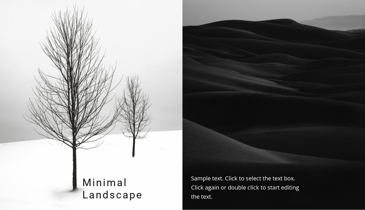 Landscape and nature Website Design