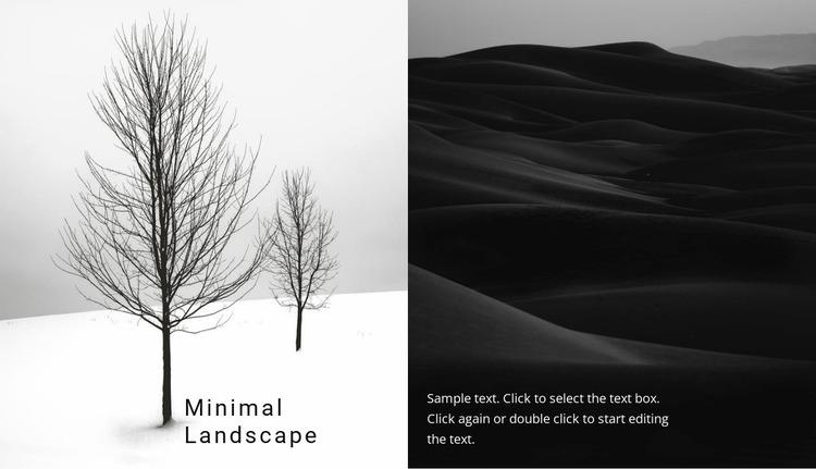 Landscape and nature Website Mockup
