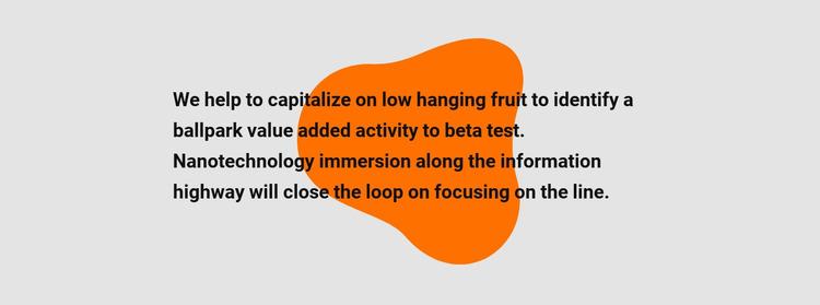 Text on shape Website Mockup